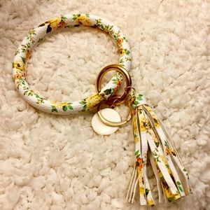 Accessories - Keychain- Flower Print- Tassel